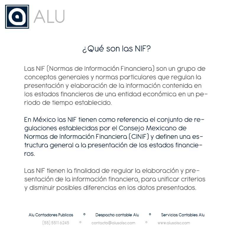 ¿Qué son las NIF? – Normas de Información Financiera