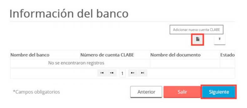 información datos bancarios