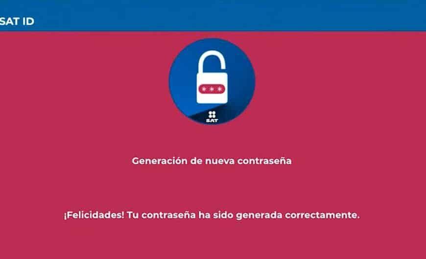 Generación o actualización de contraseña para persona física por medio de SAT ID